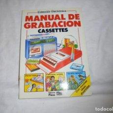 Libros de segunda mano: MANUAL DE GRABACION CASSETTES.KEN BINGHAM.COLECCION ELECTRONICA.EDICIONES PLESA 1983. Lote 156624262