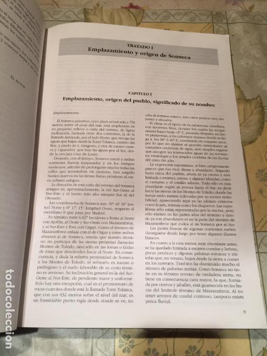 Libros de segunda mano: Antiguo libro memorias y curiosidades de la historia de Sonseca Manuel Ballesteros Peces año 1994 - Foto 2 - 156631942