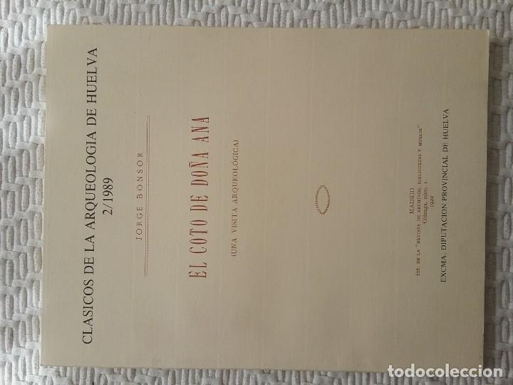 ARQUEOLOGÍA HUELVA DOÑANA FACSÍMIL (Libros de Segunda Mano - Historia - Otros)