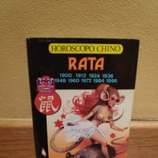 Libros de segunda mano: HORÓSCOPO CHINO RATA. Lote 156776540