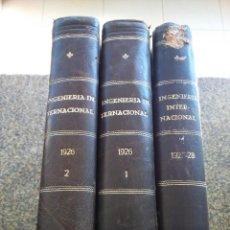 Libros de segunda mano: REVISTA INGENIERIA INTERNACIONAL -- 1926 / 27 Y 28 -- EN TRES TOMOS -- NUEVA YORK -- . Lote 156820030