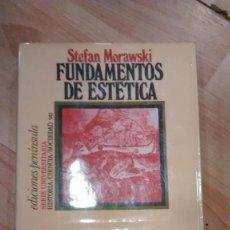 Libri di seconda mano: 'FUNDAMENTOS DE ESTÉTICA'. STEFAN MORAWSKI. Lote 156865782
