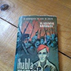 Libros de segunda mano: ¡HABLA, MEMORIA!. VLADIMIR NABOKOV. Lote 156871537