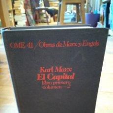 Libros de segunda mano: KARL MARX. EL CAPITAL. LIBRO PRIMERO. VOLUNEN 2. Lote 156880938