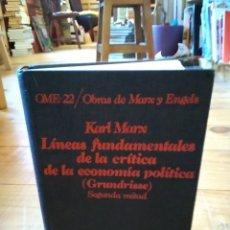 Libros de segunda mano: LÍNEAS FUNDAMENTALES DE LA CRÍTICA DE LA ECONOMÍA POLÍTICA. KARL MARX. Lote 156881574
