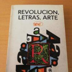 Libros de segunda mano: REVOLUCIÓN, LETRAS, ARTE (EDITORIAL LETRAS CUBANAS). Lote 156990918