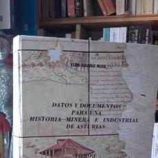 Libros de segunda mano: ADARO: DATOS Y DOCUMENTOS PARA UNA HISTORIA MINERA E INDUSTRIAL DE ASTURIAS. TOMO I.. Lote 156993286
