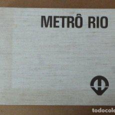 Libros de segunda mano: METRÔ RIO. ESTUDO DE VIALIDADE TECNICA E ECONOMICA DO METROPOLITANO DO RIO DE JANEIRO. 1968. 581 . Lote 156994078
