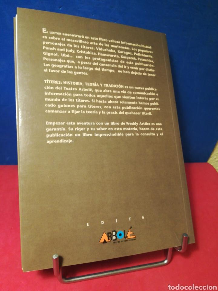 Libros de segunda mano: Títeres: historia, teoría y tradición - Freddy Artiles - Librititeros Arbolé, 1998 - Foto 3 - 157008548