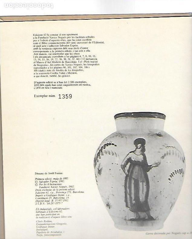 Libros de segunda mano: Sobre Xavier Nogués i la seva circumstància amb 46 litografies de X. Nogués / Salvador Espriu. BCN : - Foto 3 - 157222038