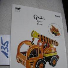 Libros de segunda mano: GRUA PUZZLE EN 3D . Lote 157231614