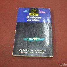 Livres d'occasion: EL ENIGMA DE SIRIO , ¿ PROVIENE LA HUMANIDAD DE LA ESTRELLA SIRIO ? - GUIRAO - ESB. Lote 157390574