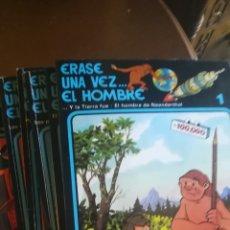 Libros de segunda mano: COLECCIÓN COMPLETA ERASE UNA VEZ EL HOMBRE. 1979. Lote 157815198