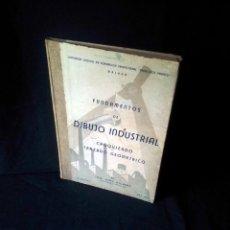 Libros de segunda mano: JOSE JEREZ ALCARAZ - FUNDAMENTOS DE DIBUJO INDUSTRIAL CROQUIZADO TRAZADO GEOMETRICO - FIRMADO. Lote 157857554