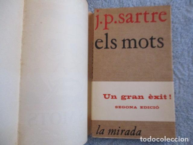 Libros de segunda mano: ELS MOTS - J.P.SARTRE - EDITORIAL AYMA SA -1968 - EDICIONS PROA - Foto 4 - 157863298