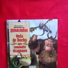 Libros de segunda mano: GUÍA DE BOCÓN PARA COMBATIR DRAGONES NUEVO DREAMWORKS CÓMO ENTRENAR A TU DRAGÓN EVEREST APTEKAR, D.. Lote 157931473