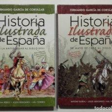 Libros de segunda mano: HISTORIA ILUSTRADA DE ESPAÑA (2 VOLUMENES) - GARCIA DE CORTAZAR, FERNANDO / PEREZ, QUIM / REDONDO, J. Lote 157987962