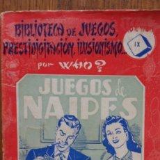 Libros de segunda mano - Juegos de naipes. Biblioteca de juegos prestidigitación, ilusionismo. Por WHO?. Barcelona, 1956 - 158151290
