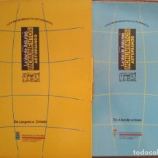 Libros de segunda mano: LOS MONUMENTOS ASTURIANOS, CARPETAS DE LAMINAS NUMEROS 1 Y 2 , LA VOZ DE ASTURIAS, 1991. Lote 158173714