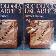 Libros de segunda mano: 'SOCIOLOGÍA DEL ARTE'. ARNOLD HAUSER. Lote 158212154