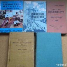 Libros de segunda mano: LOTE LIBROS ELECTROTÉCNIA TECNOLOGÍA MECÁNICA HIDRÁULICA GENERAL - NO SE DESHACE EL LOTE. Lote 206954137