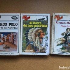 Libros de segunda mano: 3 LIBROS EDICIONES ANAYA SERIE TUS LIBROS - MARCO POLO - TESORO LAGO PLATA - GRAN MEAULNES. Lote 158219998