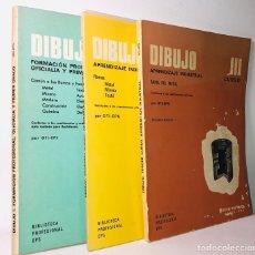 Libros de segunda mano: DIBUJO ·· CURSOS I · II · III ·· FORMACION PROFESIONAL · OFICIALIA · APRENDIZAJE INDUSTRIAL ·. Lote 158447194
