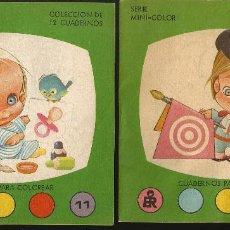 Libros de segunda mano: 2 CUADERNOS COLOREAR Nº 8 Y Nº 11, EDIT. ROMA 1982 - ILUSTRA HELENITA - SERIE MINI-COLOR. Lote 158518394
