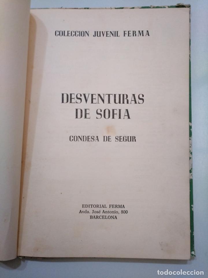 Libros de segunda mano: DESVENTURAS DE SOFÍA. CONDESA DE SEGUR. COLECCION JUVENIL FERMA. TDK379 - Foto 3 - 158537410
