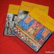 Libros de segunda mano: HISTORIA DE LA GENERALITAT I ELS SEUS PRESIDENTS - 3 TOMOS / COMPLETA 2003. Lote 158555290