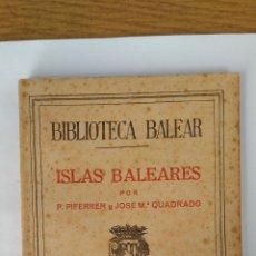 Libros de segunda mano: BIBLIOTECA BALEAR ISLAS BALEARES TOMO V. Lote 158600086