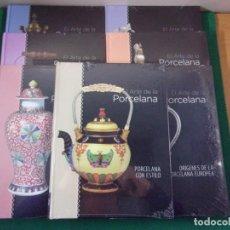 Libros de segunda mano: EL ARTE EN LA PORCELANA / CLUB INTERNACIONAL DEL LIBRO / 7 LIBROS PRECINTADOS. Lote 158631902