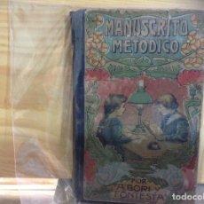 Libros de segunda mano: MANUSCRITO METODICO POR A. BORI Y FONTESTA. Lote 158653506