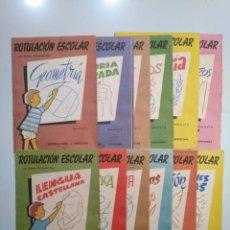 Libros de segunda mano - ROTULACION ESCOLAR. ANTONIO CARBONELL SOLER. LOTE COLECCION DE 12 ESTUCHES CON LAMINAS. TDKR44 - 158676210