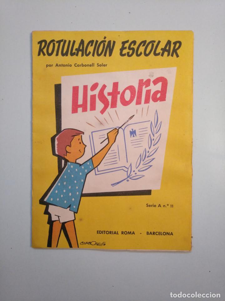 Libros de segunda mano: ROTULACION ESCOLAR. ANTONIO CARBONELL SOLER. LOTE COLECCION DE 12 ESTUCHES CON LAMINAS. TDKR44 - Foto 3 - 158676210