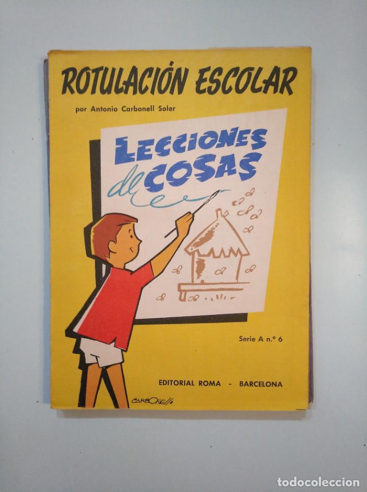 Libros de segunda mano: ROTULACION ESCOLAR. ANTONIO CARBONELL SOLER. LOTE COLECCION DE 12 ESTUCHES CON LAMINAS. TDKR44 - Foto 8 - 158676210