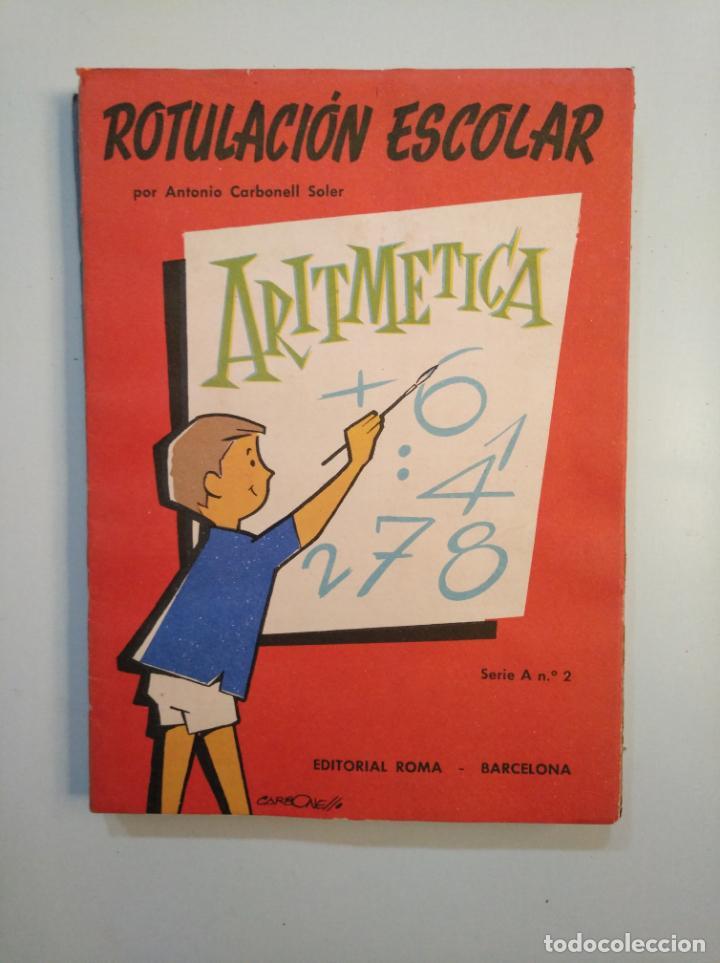 Libros de segunda mano: ROTULACION ESCOLAR. ANTONIO CARBONELL SOLER. LOTE COLECCION DE 12 ESTUCHES CON LAMINAS. TDKR44 - Foto 12 - 158676210