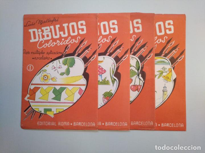 Libros de segunda mano: DIBUJOS COLORIDOS. LUIS MALLAFRE. LOTE DE 4 ESTUCHES CON LAMINAS. EDITORIAL ROMA. TDKR44 - Foto 2 - 158677018