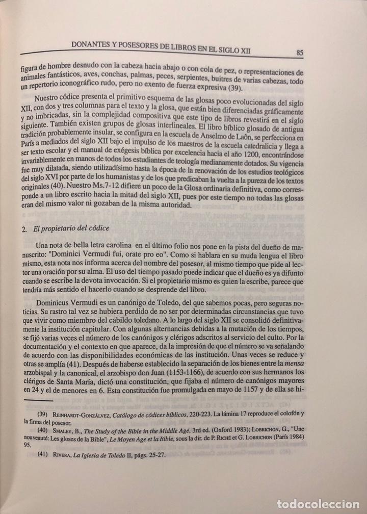 Libros de segunda mano: HOMBRES Y LIBROS DE TOLEDO 1086-1300. RAMON GONZALEZ RUIZ. FUNDACION RAMON ARECES.MADRID 1997. - Foto 4 - 158678842