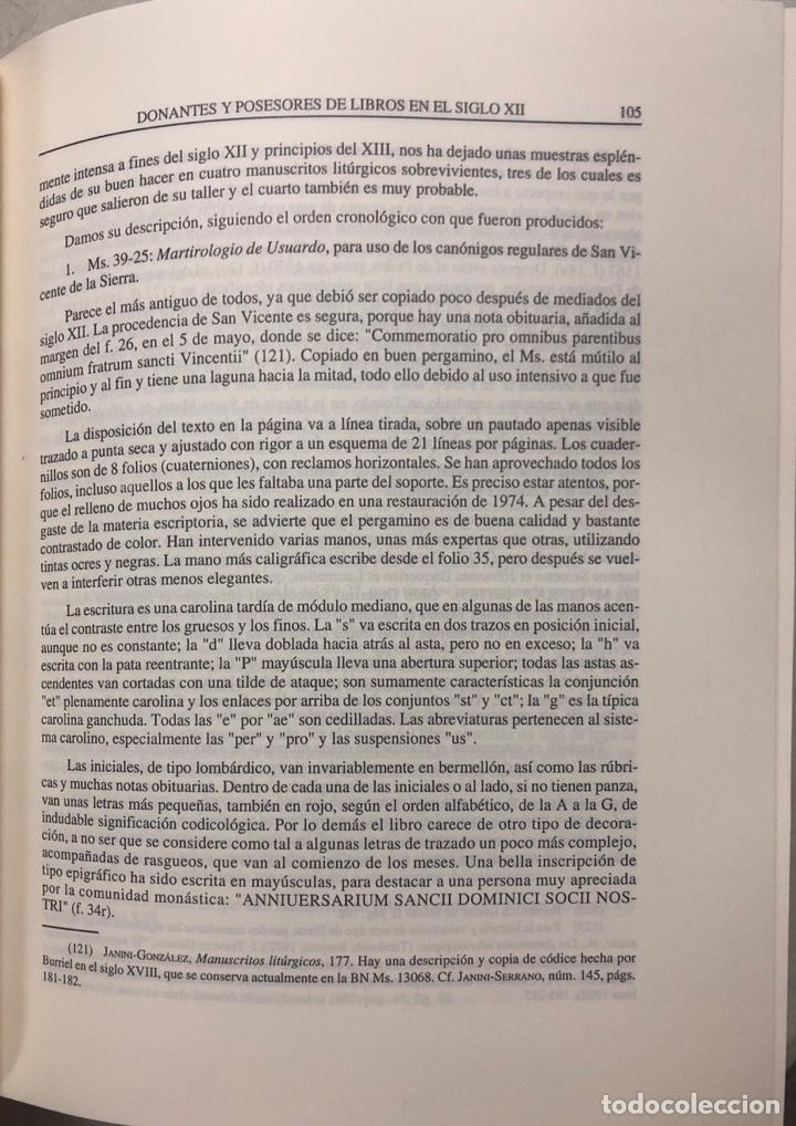 Libros de segunda mano: HOMBRES Y LIBROS DE TOLEDO 1086-1300. RAMON GONZALEZ RUIZ. FUNDACION RAMON ARECES.MADRID 1997. - Foto 5 - 158678842