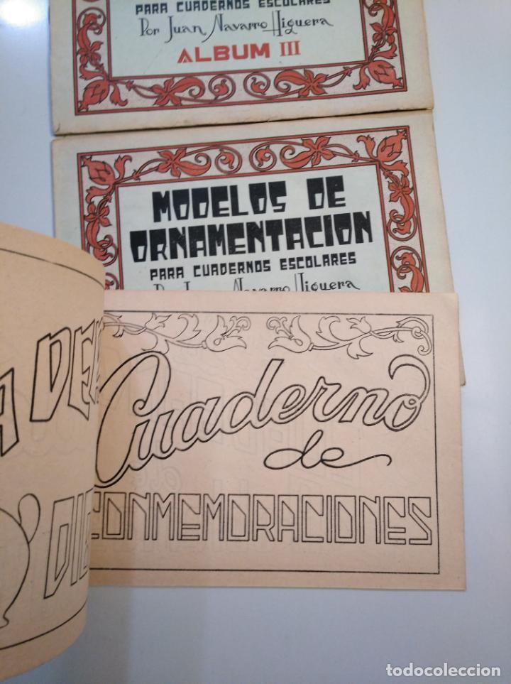 Libros de segunda mano: MODELOS DE ORNAMENTACION PARA CUADERNOS ESCOLARES. JUAN NAVARRO HIGUERA. ALBUM I, II Y III. TDKR44 - Foto 6 - 158679058