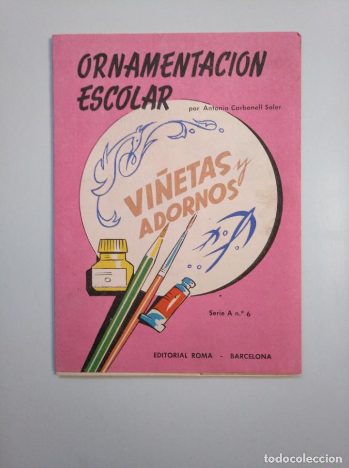 Libros de segunda mano: ORNAMENTACION ESCOLAR. ANTONIO CARBONELL SOLER. LOTE DE 6 ESTUCHES CON LAMINAS. TDKR44 - Foto 2 - 158679314