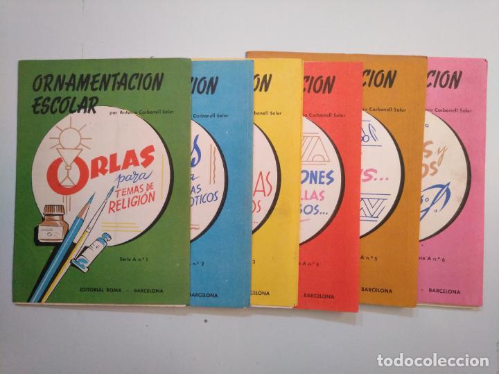Libros de segunda mano: ORNAMENTACION ESCOLAR. ANTONIO CARBONELL SOLER. LOTE DE 6 ESTUCHES CON LAMINAS. TDKR44 - Foto 8 - 158679314