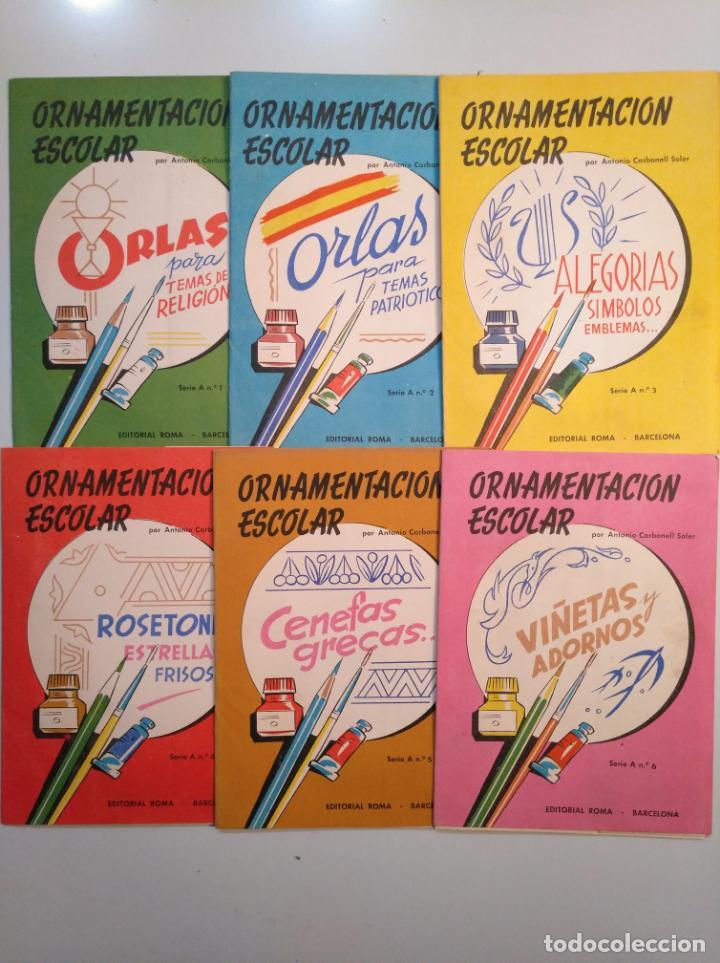 Libros de segunda mano: ORNAMENTACION ESCOLAR. ANTONIO CARBONELL SOLER. LOTE DE 6 ESTUCHES CON LAMINAS. TDKR44 - Foto 9 - 158679314