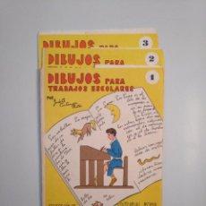 Libros de segunda mano - DIBUJOS PARA TRABAJOS ESCOLARES. 3 ESTUCHES CON LAMINAS JUDITH CASTANYER RATÉS EDITORIAL ROMA TDKR44 - 158680030
