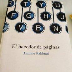 Libros de segunda mano: ANTONIO RABINAD EL HACEDOR DE PÁGINAS. Lote 158803454