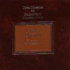 Libros de segunda mano: CHARLES DARWIN, EL ORIGEN DE LAS ESPECIES. PLANETA-AGOSTINI 1992, OBRAS MAESTRAS DEL PENSAMIENTO CON. Lote 158810986