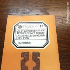 Libros de segunda mano: CUADERNOS SEMINARIO CERAMICA SARGADELOS Nº 17 EDICIONES DO CASTRO EXPERIENCIA TECNOLOGIA ESCUELA . Lote 158815038