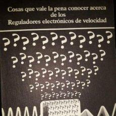 Libros de segunda mano: REGULADORES ELECTRÓNICOS DE VELOCIDAD VLT DANFOSS DIBUJOS DIVERTIDOS MOTORES INVERSIÓN CÁLCULO PAR. Lote 158817498