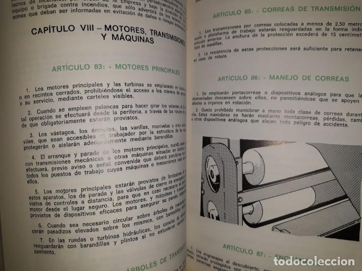 Libros de segunda mano: ORDENANZA GENERAL SEGURIDAD HIGIENE TRABAJO INDUSTRIAL ILUSTRADO MOTOR ELÉCTRICO TRANSMISIÓN MÁQUINA - Foto 3 - 158820518